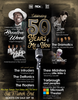 Celebrating 50 Years of Me & You – Brenton Wood Tribute Saturday March 3rd, 2018