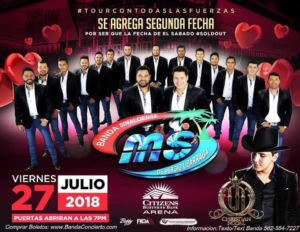Banda Ms Y Christian Nodal at Citizen Bank Arena