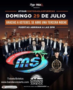 SUNDAY BANDA MS CONCERT CITIZENS BANK ARENA 2018