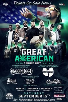 THE GREAT AMERICAN SMOKE OUT CONCERT 2018