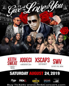 Keith Sweat,Jodeci,Xscape,SWV at the Greek Theater August 24 2019