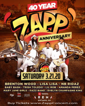 Zapp 40 Year Anniversary w/ Brenton Wood at The Toyota Arena Ontario March 21 2020