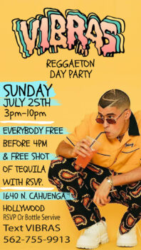 Vibras Day Party Hollywood Free Guestlist